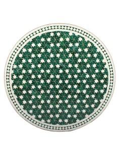 Marokkanischer Mosaiktisch Maar grün 100 cm