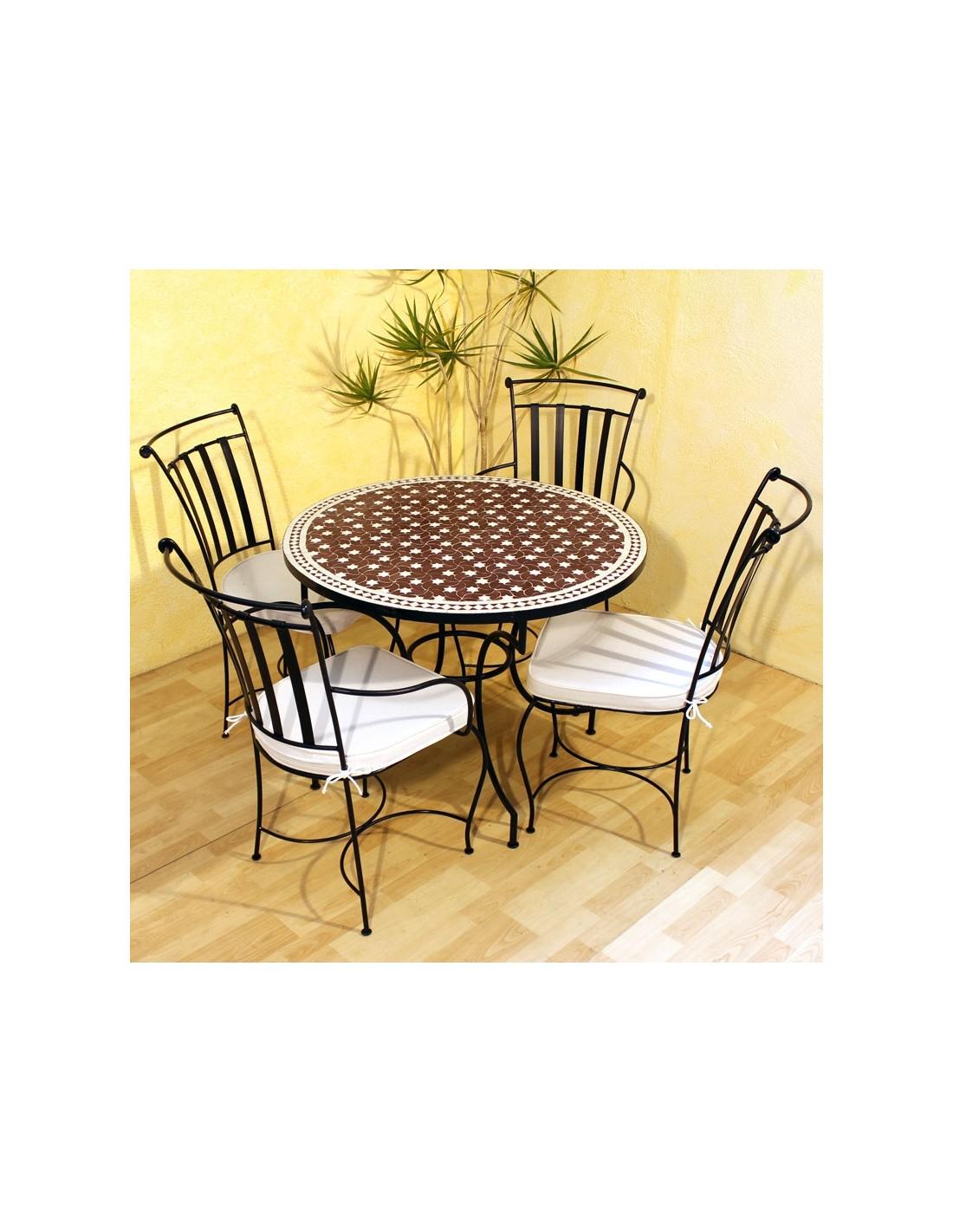 mosaiktisch maar rot 100cm albena marokko galerie. Black Bedroom Furniture Sets. Home Design Ideas