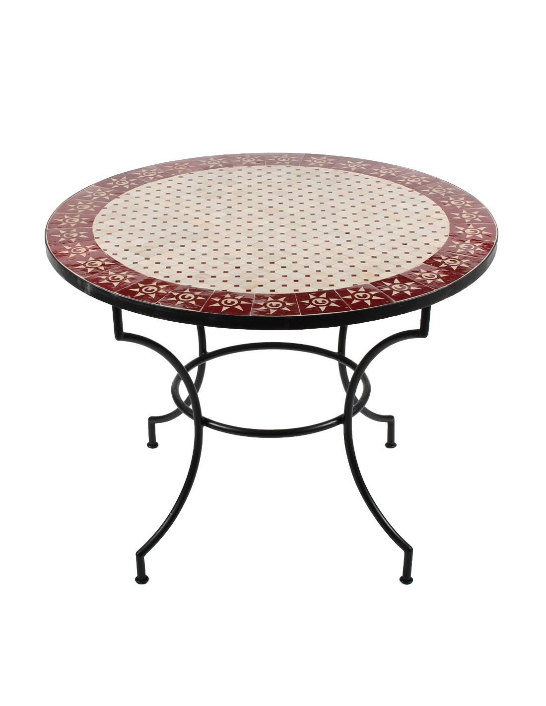 mosaiktische 100cm rund in der albena marokko galerie. Black Bedroom Furniture Sets. Home Design Ideas