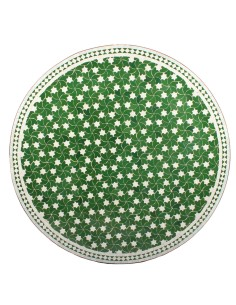 Marokkanischer Mosaiktisch Maar grün 120 cm