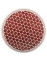 Marokkanische Mosaikplatte Maar rot 120 cm