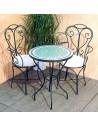 Marokkanischer Mosaiktisch Fero 60 cm mit Stühlen