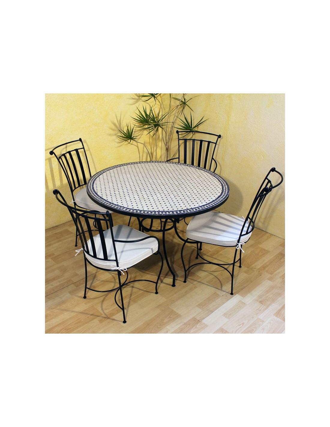 mosaiktisch issma 120cm rund albena marokko galerie. Black Bedroom Furniture Sets. Home Design Ideas