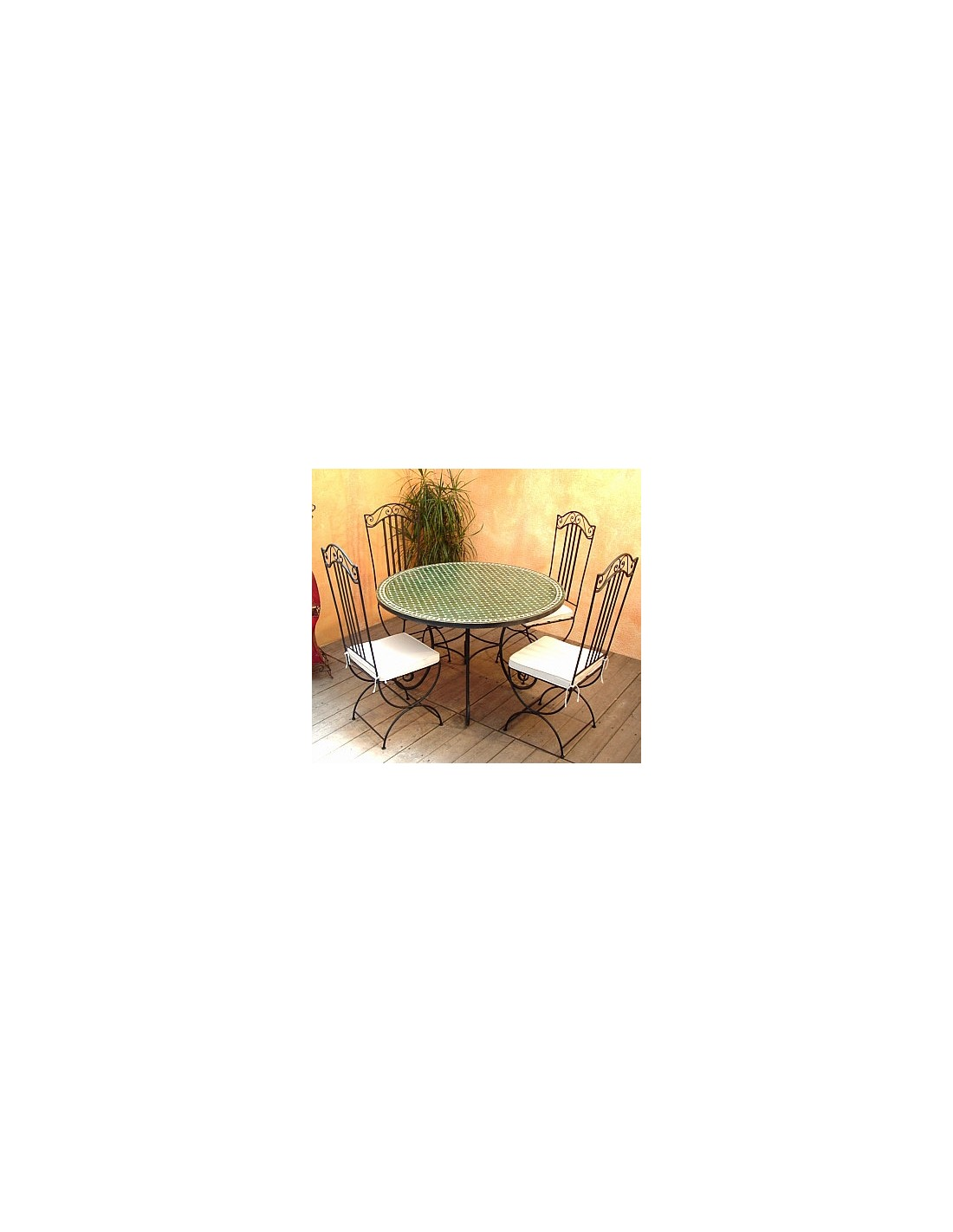 mosaiktisch hamra 120cm rund aus marokko. Black Bedroom Furniture Sets. Home Design Ideas