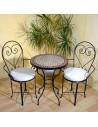 Marokkanischer Mosaiktisch Eron 60 cm mit Stühlen