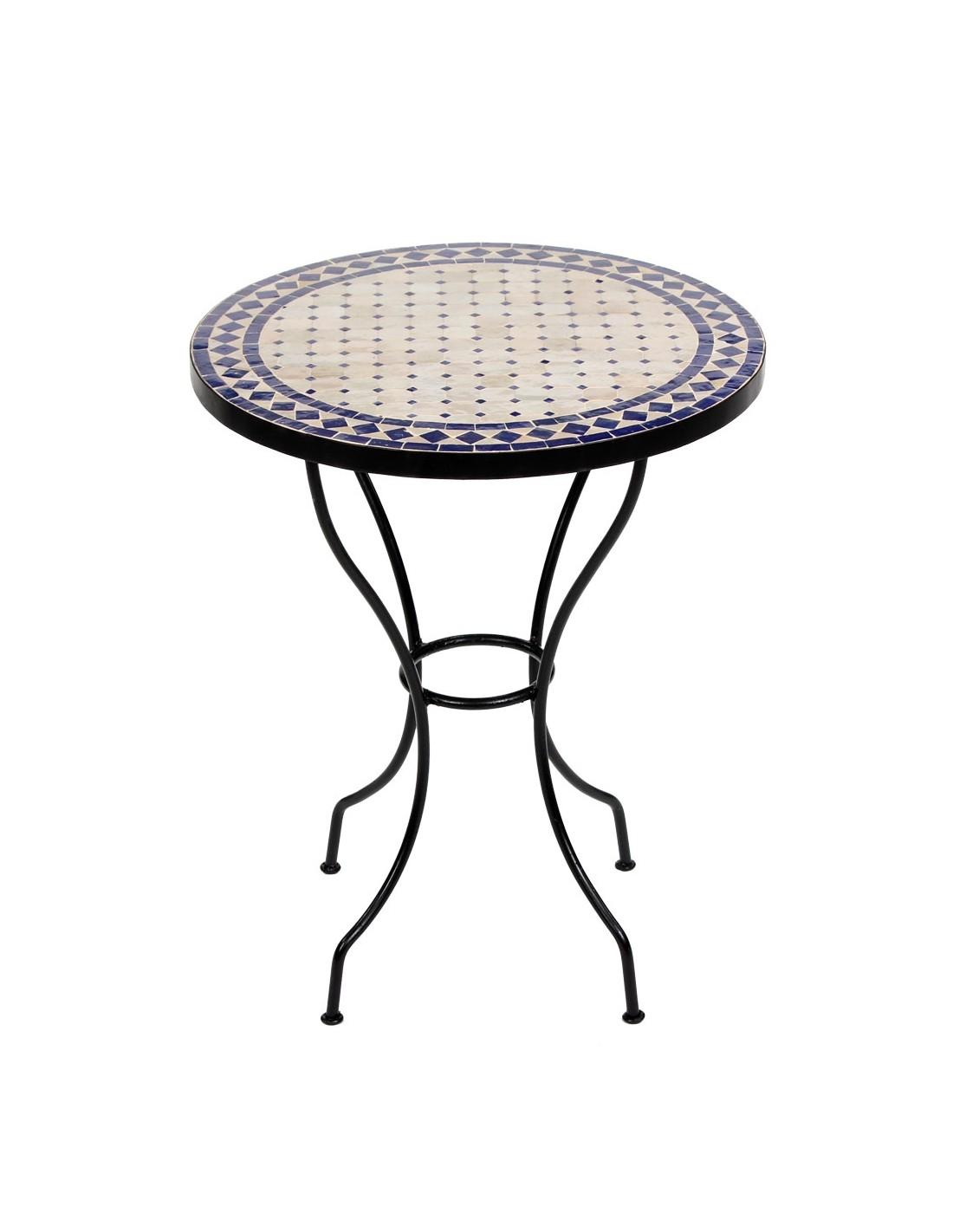 mosaiktisch ebau 60cm rund bei albena marokko galerie. Black Bedroom Furniture Sets. Home Design Ideas