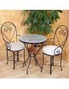 Marokkanischer Mosaiktisch Lisu 60 cm mit Stühlen