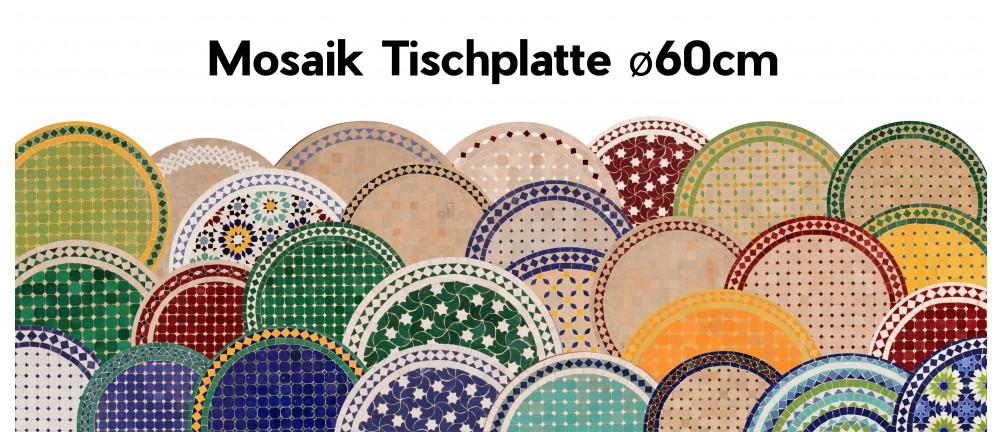 Mosaik Tischplatte ø60cm