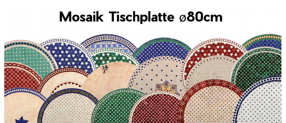 Mosaik Tischplatte ø80cm