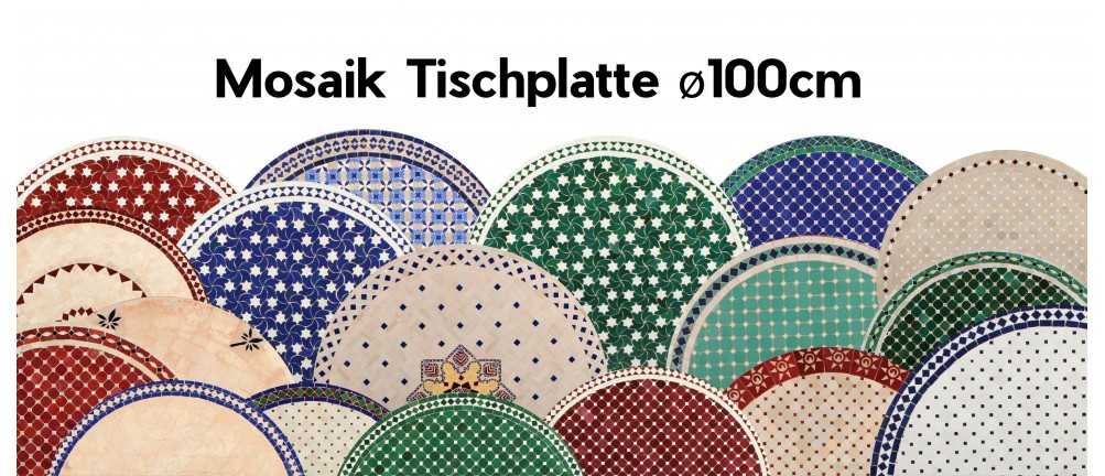 Mosaik Tischplatte ø100cm