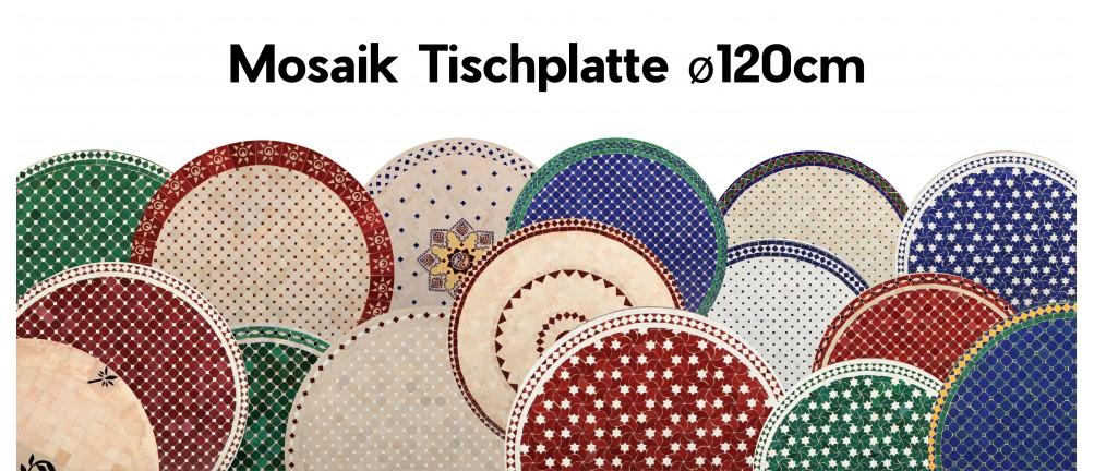 Mosaik Tischplatte ø120cm