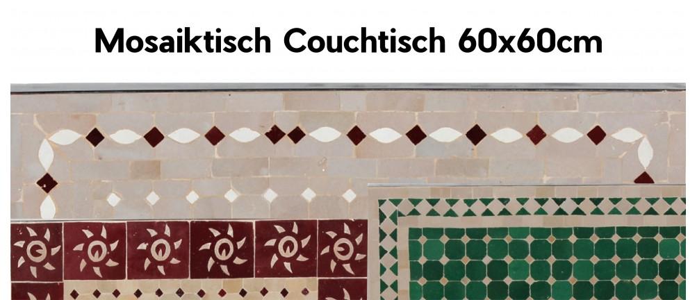 Mosaik Tischplatte 60x60 cm