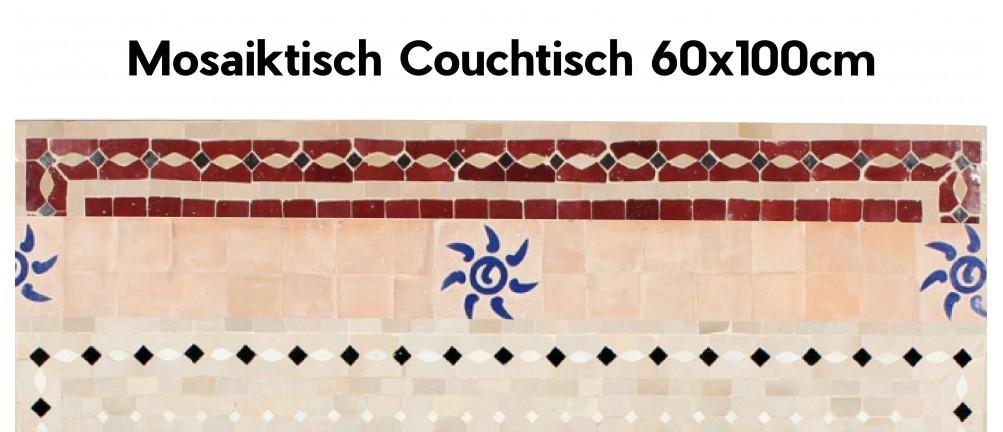 Mosaik Tischplatte 60x100 cm