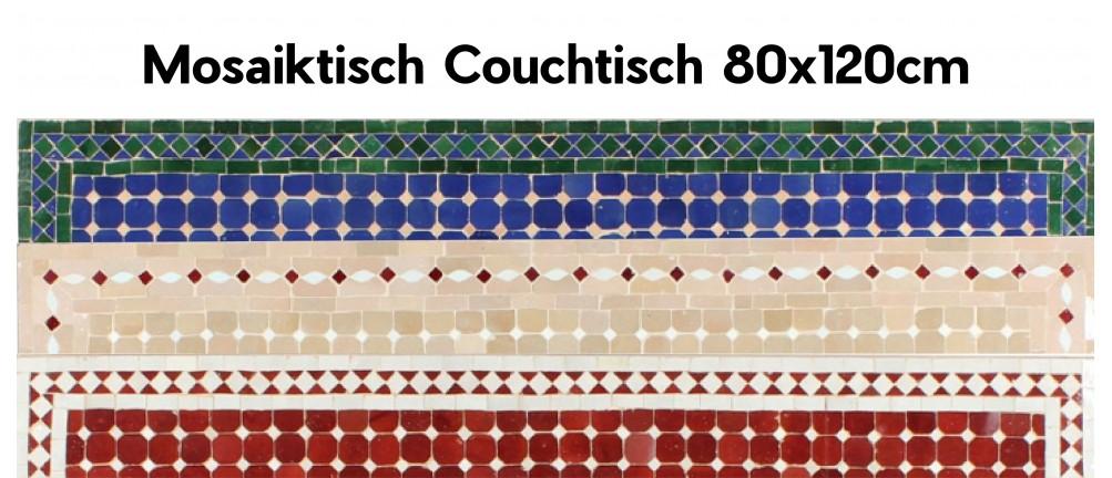 Mosaik Tischplatte 80x120 cm