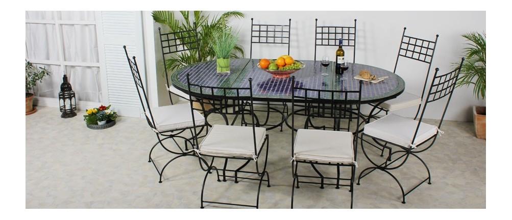 Mosaik-Tischkombination